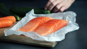 pavées de saumon frais